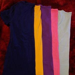 Bundle of 5 V neck t-shirts